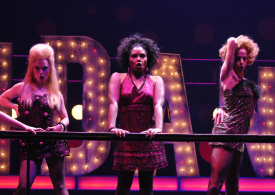 Audra Bryant, Vanita Harbour, and Kathryn Murphy in Lyric Theatre's 2012 production of SWEET CHARITY. Photo by Wendy Mutz