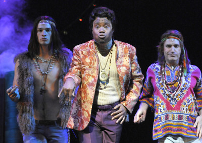 Joel Ingram, Billy Porter, and Matthew Sipress in Lyric Theatre's 2012 production of SWEET CHARITY. Photo by Wendy Mutz.