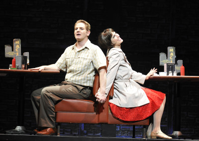 Jamison Stern and Milena Govich in Lyric Theatre's 2012 production of SWEET CHARITY. Photo by Wendy Mutz.
