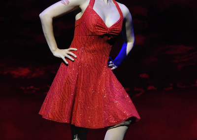 Milena Govich in Lyric Theatre's 2012 production of SWEET CHARITY. Photo by Wendy Mutz.