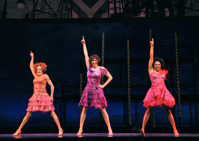 Kathryn Murphy, Milena Govich, and Vanita Harbour in Lyric Theatre's SWEET CHARITY. Photo by Wendy Mutz.