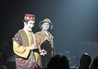Monte Riegel Wheeler and Jeffrey Meek in THE MYSTERY OF IRMA VEP. Photo by Wendy Mutz.