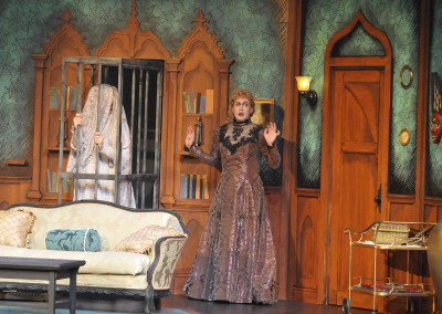Jeffrey Meek and Monte Riegel Wheeler in THE MYSTERY OF IRMA VEP. Photo by Wendy Mutz.
